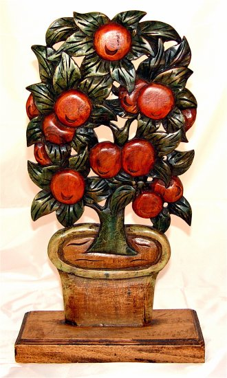 APPLE TREE - CARVED WOODEN DECOR