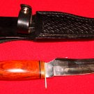 HUNTING KNIFE - FROST CUTLERY - SURGICAL STEEL w/LEATHER SHEATH