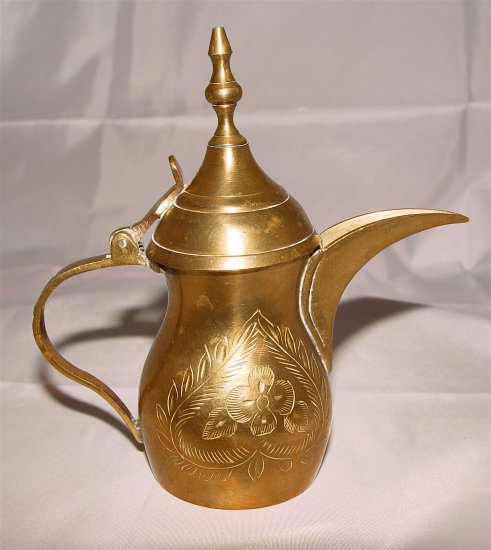 SOLID BRASS EWER from Saudi Arabia - VINTAGE