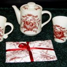 Teapot & Mug Set for 2 - CALIFORNIA PANTRY -3 pcs.