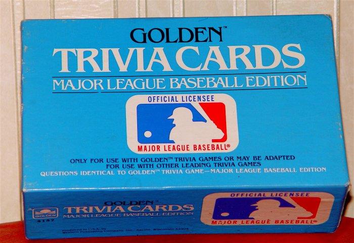 GOLDEN TRIVIA GAME CARDS - Major League Baseball Edition