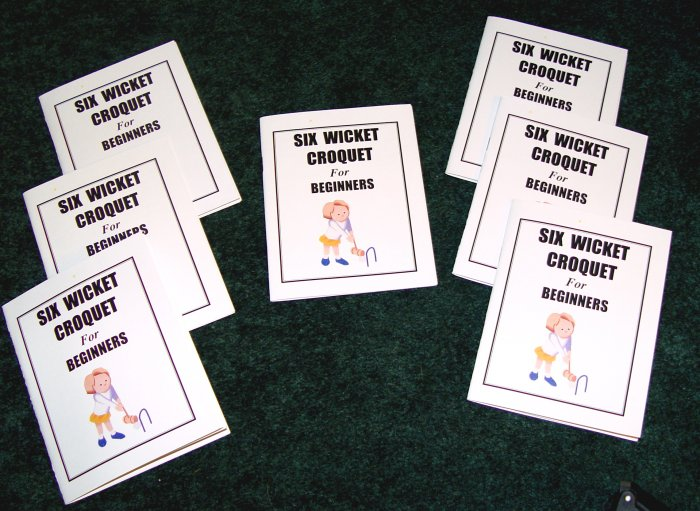 SIX-WICKET CROQUET - 25 Booklets per pkg