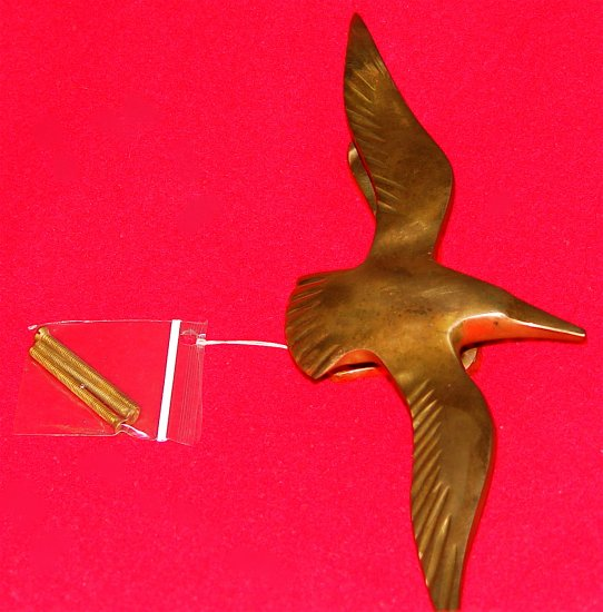 SEAGULL DOOR KNOCKER - Brass