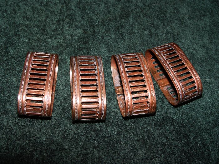 COPPER Napkin Rings 4 pcs- Vintage