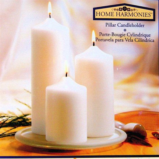 CANDLEHOLDER SET - PILLAR w/ 3 candles by Indiana Glass