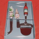 Wine & Cheese Serving Set- 3 pcs - Harbor East - NIB