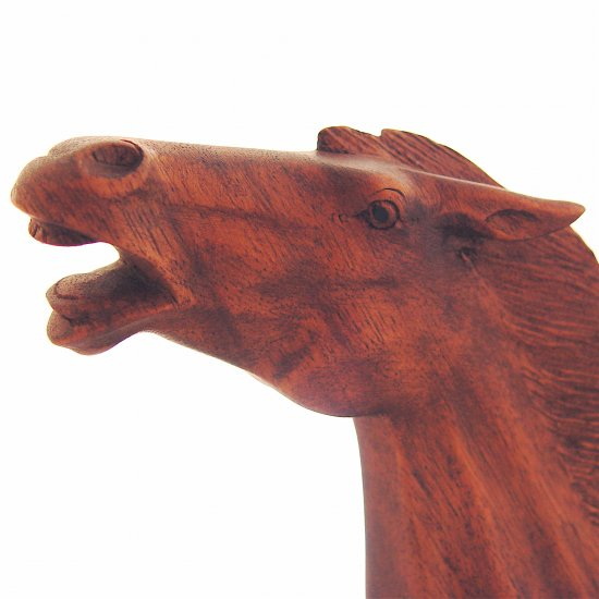 HORSE - Wood Sculpture - NEW