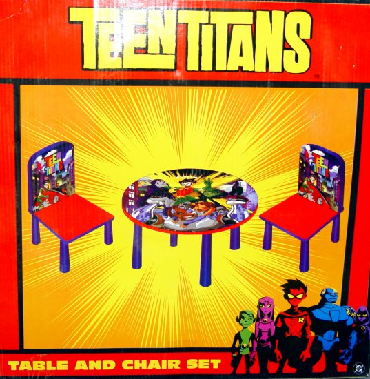 TABLE & CHAIR SET - TEEN TITAN - NIB