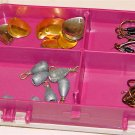 FISHING TACKLE BOX w/accessories