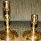 Candle Holders - Heavy Gauge Polished Solid Brass - 2 pcs