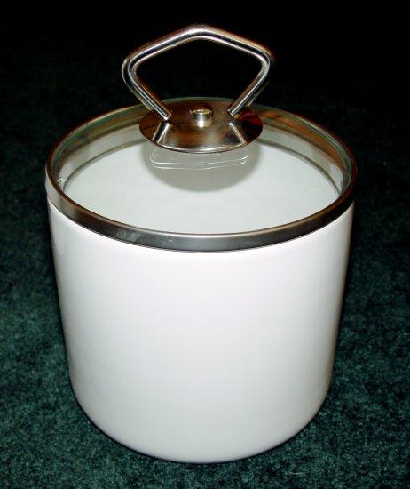 CANNISTER SET  (3 pcs) - Glazed earthenware - (NIB)