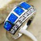 Blue Fire Opal and 925 Sterling Silver - Size 8 (R189)