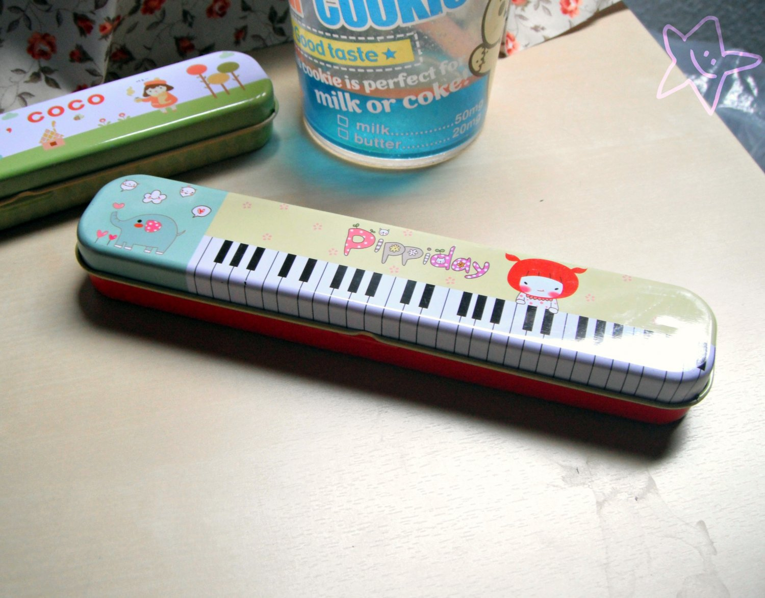 Cute Korean Pencil Tin Case (Pippi)