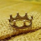 Cute Bronze Korean style crown ring (pinky/little finger ring) - bronze colour