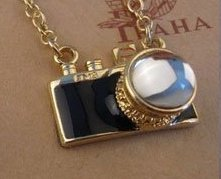 Beautiful Small Black Camera Necklace