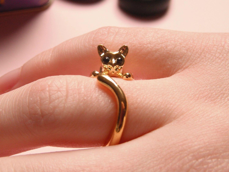 Cute Cat Ring - Gold