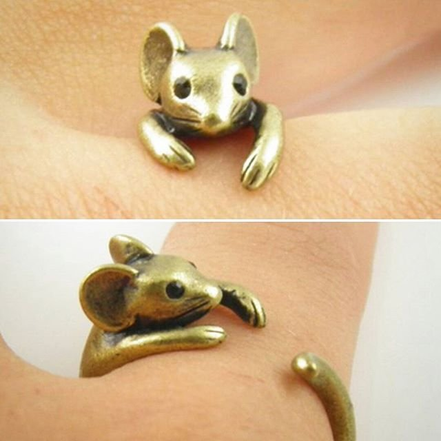 Mouse Ring in Bronze (adjustable)
