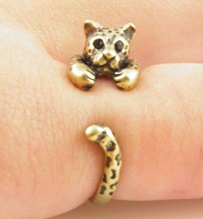Vintage Style Leopard Ring (adjustable)