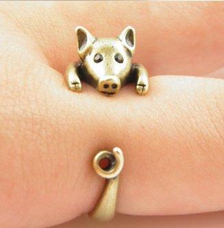 Vintage Style Pig/Warthog Ring (adjustable)
