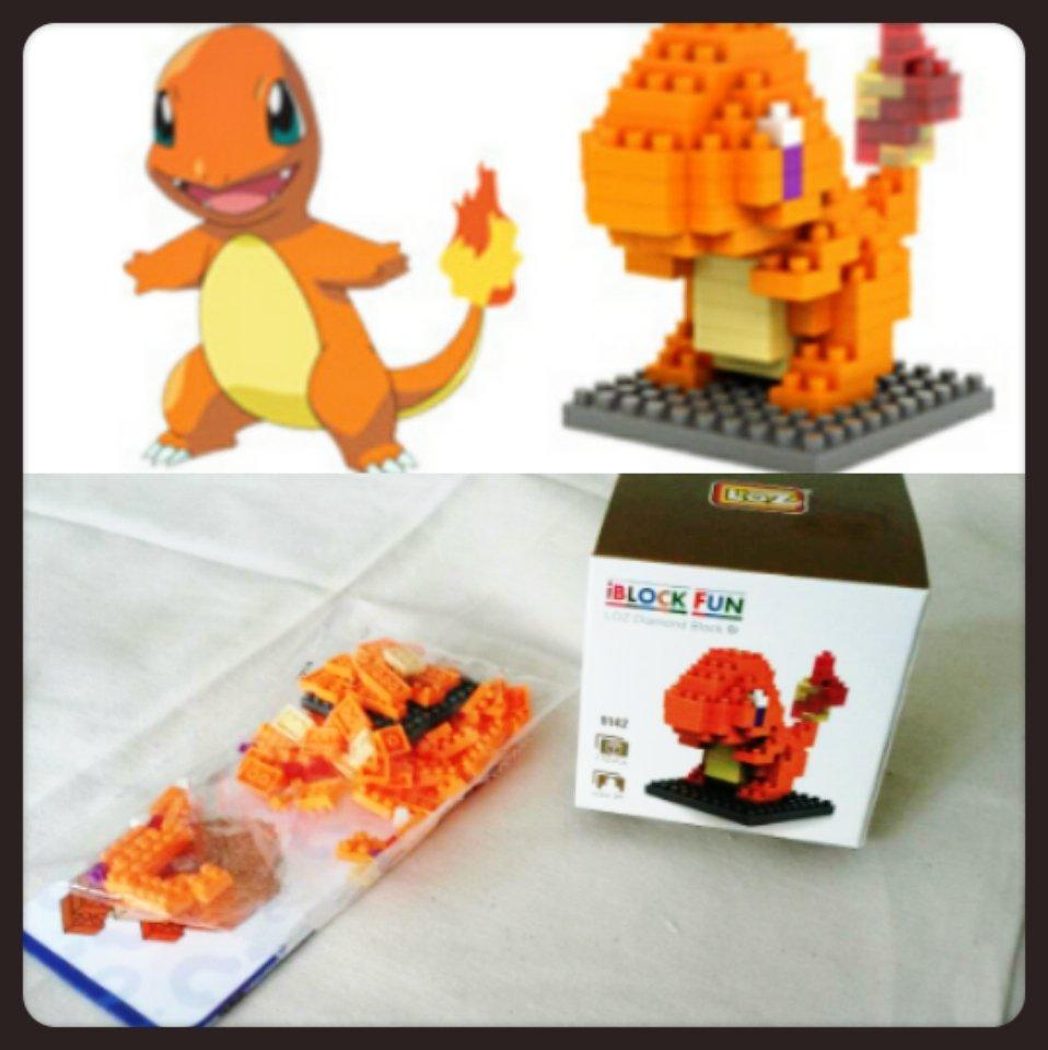 Charmander mini blocks set