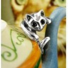 Cute Cat Ring - Silver (adjustable size)