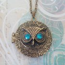Cute Bronze Owl Necklace