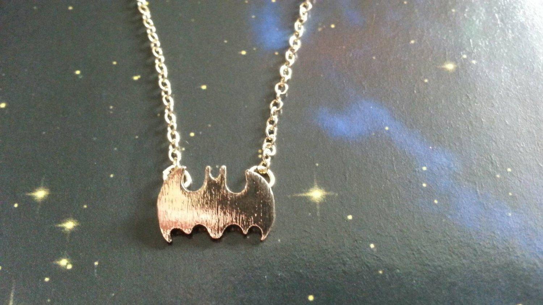 Batman necklace (gold colour)