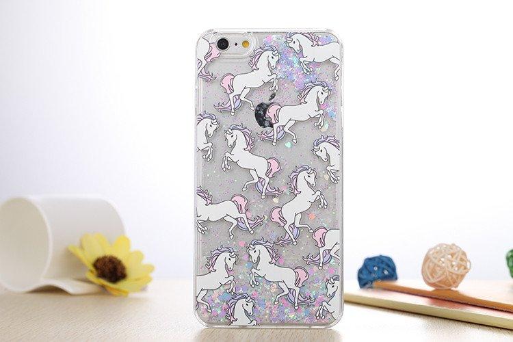 Unicorn glitter case (purple) (iphone 6/6s)