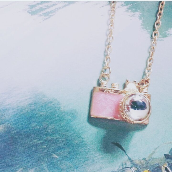 Beautiful Small Pink Camera Necklace