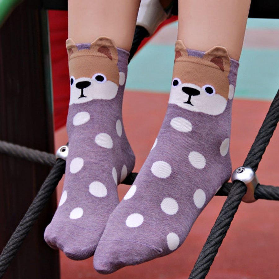 Pomeranian socks (UK womens 3-7)