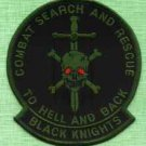 BLACK KNIGHTS COMBAT SEARCH & RESCUE MILITARY PATCH