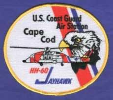 United States Coast Guard Cape Cod HH-60 Jayhawk Helicopter Patch