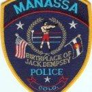 Manassa Colorado Police Patch Home of Jack Dempsey