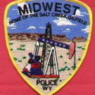 Midwest City Wyoming Police Patch