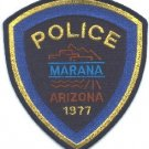 Marana Arizona Police Patch