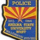 Arizona State University West Police Patch