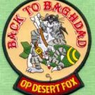 OPERATION DESERT FOX F-14 TOMCAT MILITARY AIRCRAFT PATCH