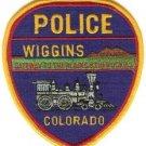 Wiggins Colorado Police Patch Locomotive