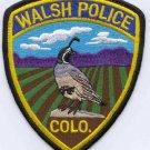 Walsh Colorado Police Patch