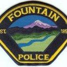 Fountain Colorado Police Patch