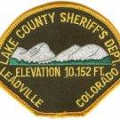 Lake County Sheriff Colorado Police Patch