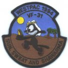VF-31 TOMCATERS WESTPAC 1994 MILITARY AIRCRAFT PATCH