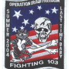 FIGHTING VF-103 OPERATION IRAQI FREEDOM MILITARY AIRCRAFT PATCH