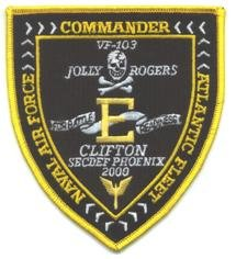 VF-103 JOLLY ROGERS SQUADRON ATLANTIC FLEET COMMAND PATCH