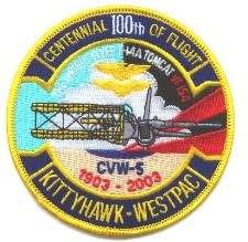 CH-63 USS KITTY HAWK CVN-5 SQUADRON CENTENNIAL FLIGHT PATCH