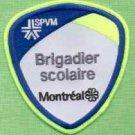 Montreal Quebec CANADA Police Patch Brigadier Scolaire