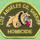 Los Angeles County Sheriff California Police Homicide Division Patch