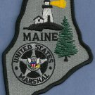 United States Marshal Maine Police Patch