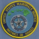 United States Marshal Hawaii Police Patch