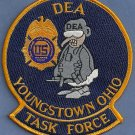DEA Youngstown Ohio Task Force Police Patch